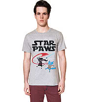 Flip Flop & Fangs Star Paws T Shirt (Grey)