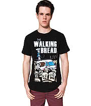 Flip Flop & Fangs Walking Bread T Shirt (Black)