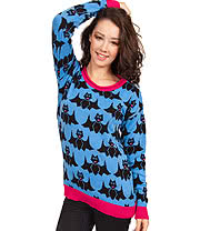 Flip Flop & Fangs Bats Jumper (Blue)
