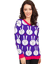 Flip Flop & Fangs Bunnies Jumper (Purple)