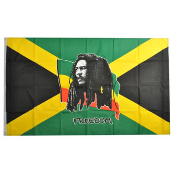 Blue Banana Bob Marley Flag