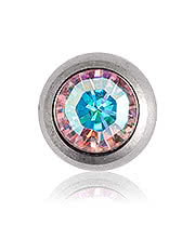 Blue Banana Polished Titanium 1.6mm Jewel Ball (AB)