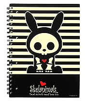 Skelanimals Jack Rabbit A4 Squared Notebook (Black/Cream)