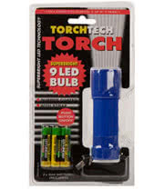 Blue Banana 9 LED Bulb Torch 10cm with Batteries (Blue)