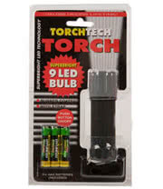 Blue Banana 9 LED Bulb Torch 10cm with Batteries (Black)
