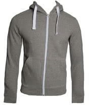 Criminal Damage Plain Skinny Fit Hoodie (Light Grey)