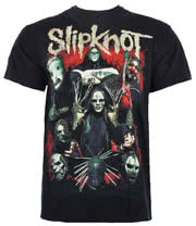 Slipknot Come Play Dying Print T Shirt