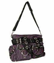 Jawbreaker Striped Bag (Black/Purple)