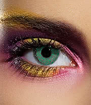 EDIT 90 Day Coloured Contact Lenses (Single Tone Green)