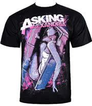 Asking Alexandria Coffin Girl T Shirt (Black)