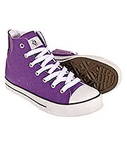 Bleeding Heart Canvas Hi Tops (Purple)