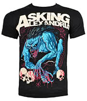 Asking Alexandria Gargoyle T Shirt (Black)