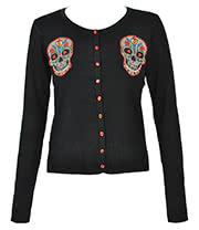 Banned Multi Skull Cardigan (Black)