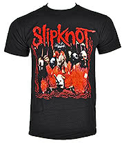 Slipknot Band Frame T Shirt (Black)