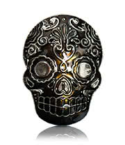 Blue Banana Sugar Skull Belt Buckle (Black)