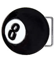 Blue Banana 8 Ball Belt Buckle (Black)