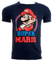 Nintendo Super Mario T Shirt (Navy)