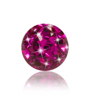 Crystal 5mm Glitter Ball (Fuchsia)
