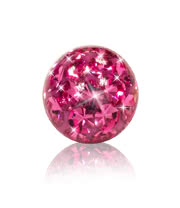 Crystal 5mm Glitter Ball (Rose)