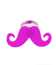 Blue Banana Moustache Ring (Pink)