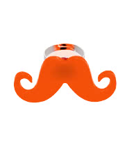Blue Banana Moustache Ring (Orange)