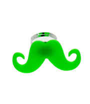 Blue Banana Moustache Ring (UV Green)