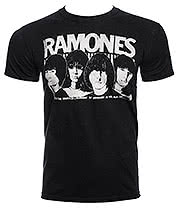 Ramones Odeon Poster T Shirt (Black)