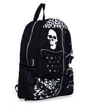 Jawbreaker Skull & Anarchy Studded Backpack (Black)