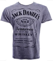Jack Daniels Classic Acid Wash T Shirt (Grey)