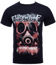 Bullet For My Valentine Temper Temper Gas Mask T Shirt (Black)