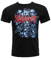 Slipknot Masks T Shirt (Black)