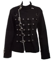 Banned Silver D Ring Jacket (Black)