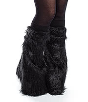 Blue Banana Rave Legwarmers (Black)