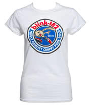 Blink 182 Bunny Seal Skinny Fit T Shirt (White)