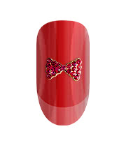 Blue Banana Pack of Two Pink Crystal Bow 3D Nail Art