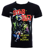 Star Trek Kirk v Kirk T Shirt (Black)