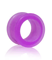 Blue Banana Silicon Flesh Tunnel (Purple) 14-22mm