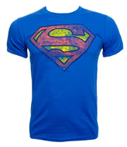 DC Comics Superman Coloured Logo T Shirt (Blue)
