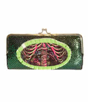 Too Fast Electric Skeleton Purse (Green)