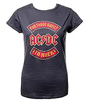 AC/DC About To Rock Skinny Fit T Shirt (Grey)