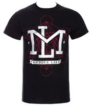 Madina Lake Letters T Shirt (Black)