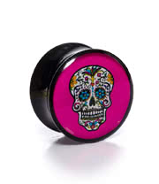 Blue Banana Sugarskull Plug 12-22mm (Pink)