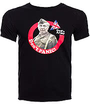 Dad's Army Don't Panic T Shirt (Black)