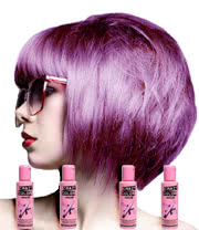 Crazy Color Semi-Permanent Hair Dye 4 Pack (Lavender)
