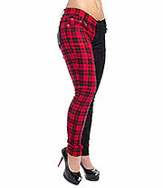 Banned Tartan Jeans (Red/Black)