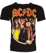 AC/DC Highway Distress T Shirt (Black)