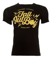 Fall Out Boy Bomb T Shirt (Black)