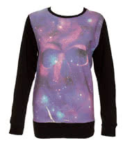 Cold Heart Space Skull Sweater (Purple)