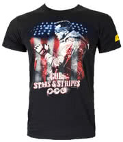 Kick-Ass 2 Stars And Stripes T Shirt (Black)