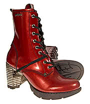 New Rock TR001 Heeled Boots (Red)